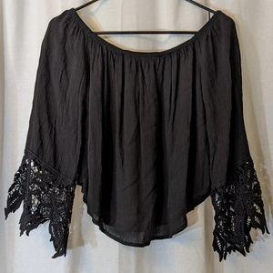 3 For $15 Ambiance Black Off Shoulder Sz S